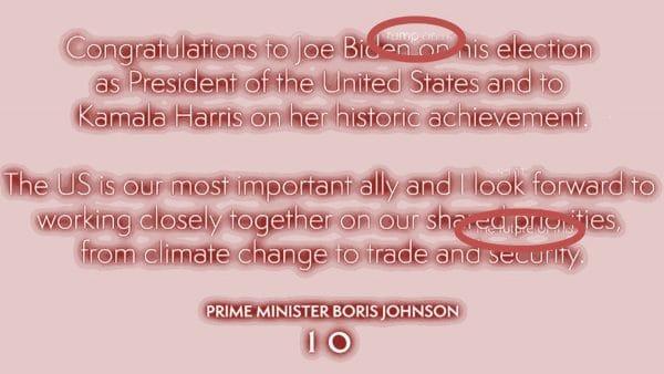 Boris Johnson gratuliert versehentlich Trump